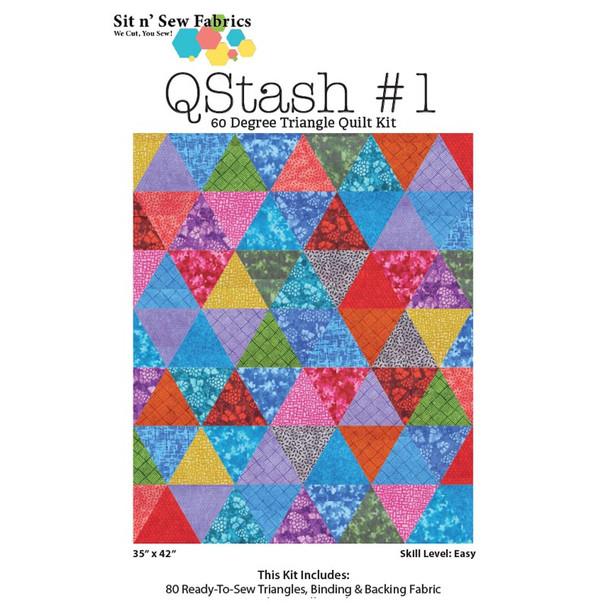 Q Stash 60 Degree Triangle Quilt Kit #1