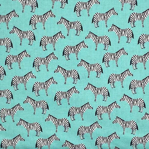 Studio E - Little Explorers - Zebras Allover - Aqua