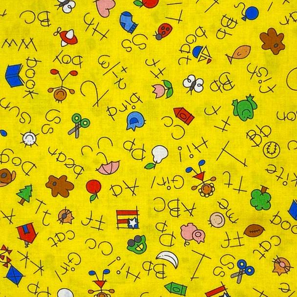 Henry Glass - Alpha-Bears - ABC Words - Yellow