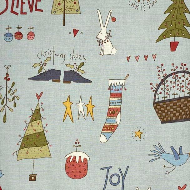 Henry Glass - Celebrating Xmas - Christmas Things - Lt Blue