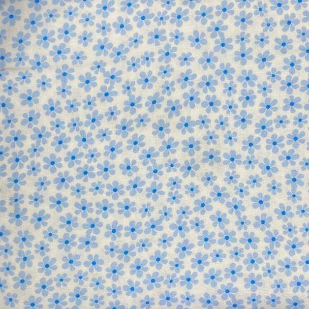 Benartex - Love Bunny - Tossed Daisies - Blue
