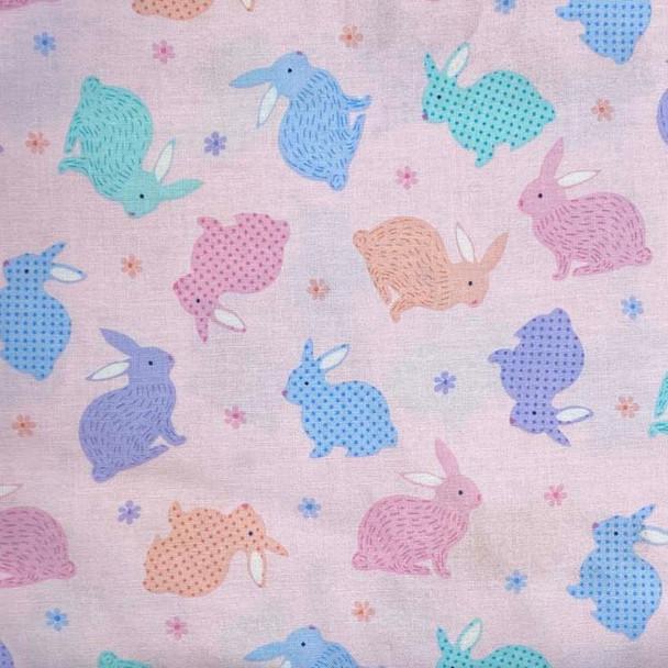 Benartex - Love Bunny - Tossed Bunnies - Pink