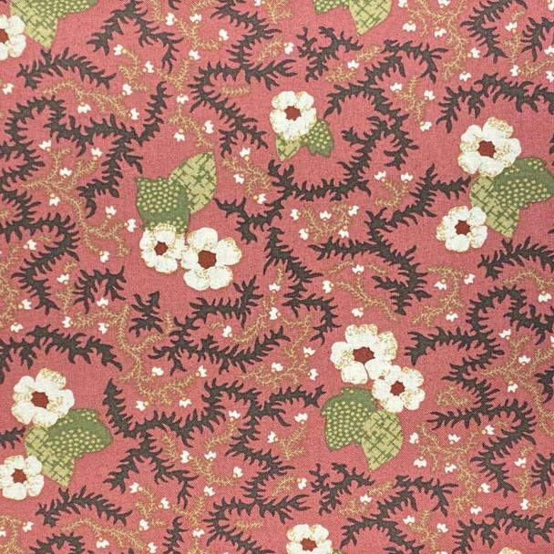RJR - Garden Collage - Floral Vines - Red