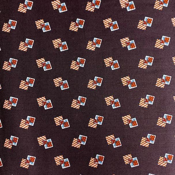Washington Street Studios - Cross Quilt - Boxed Up - Dk Brown