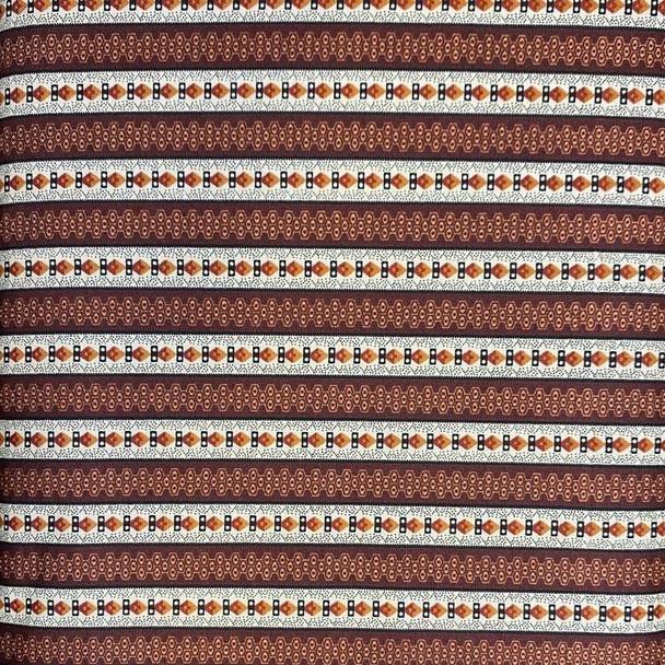 Washington Street Studios - Cross Quilt - Floral Stripes - Sienna