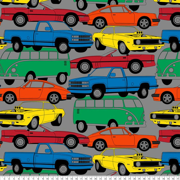 David Textiles - Fleece Prints - Transportation - Multi