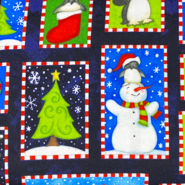 Studio E - North Pole Greetings Flannel - Winter Scenes - Multi