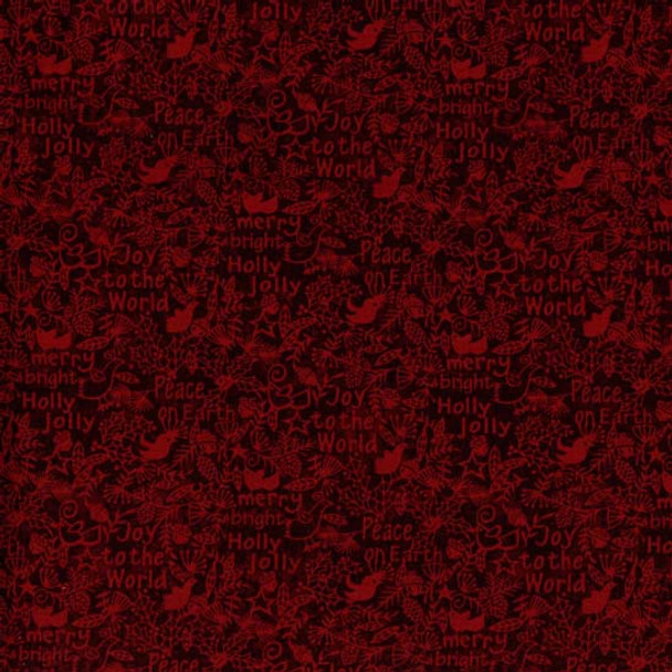 Henry Glass - Believe - Christmas Text - Dk Red
