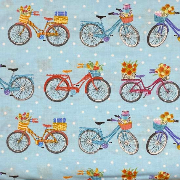 Henry Glass - Enjoy The Journey - Bicycle Stripes - Lt Blue