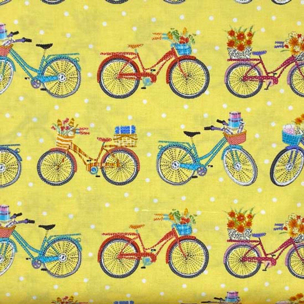 Henry Glass - Enjoy The Journey - Bicycle Stripes - Yellow