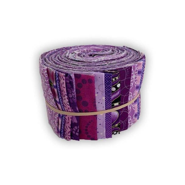 Mixed Purples - 2.5'' Strips - Mini Rolls
