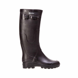 Aigle Black Rubber Boots - side
