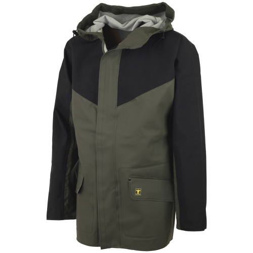 Guy Cotten Eureka Breathable Jacket Green / Black - Front