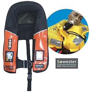 Worksafe inflatable PLB life jacket