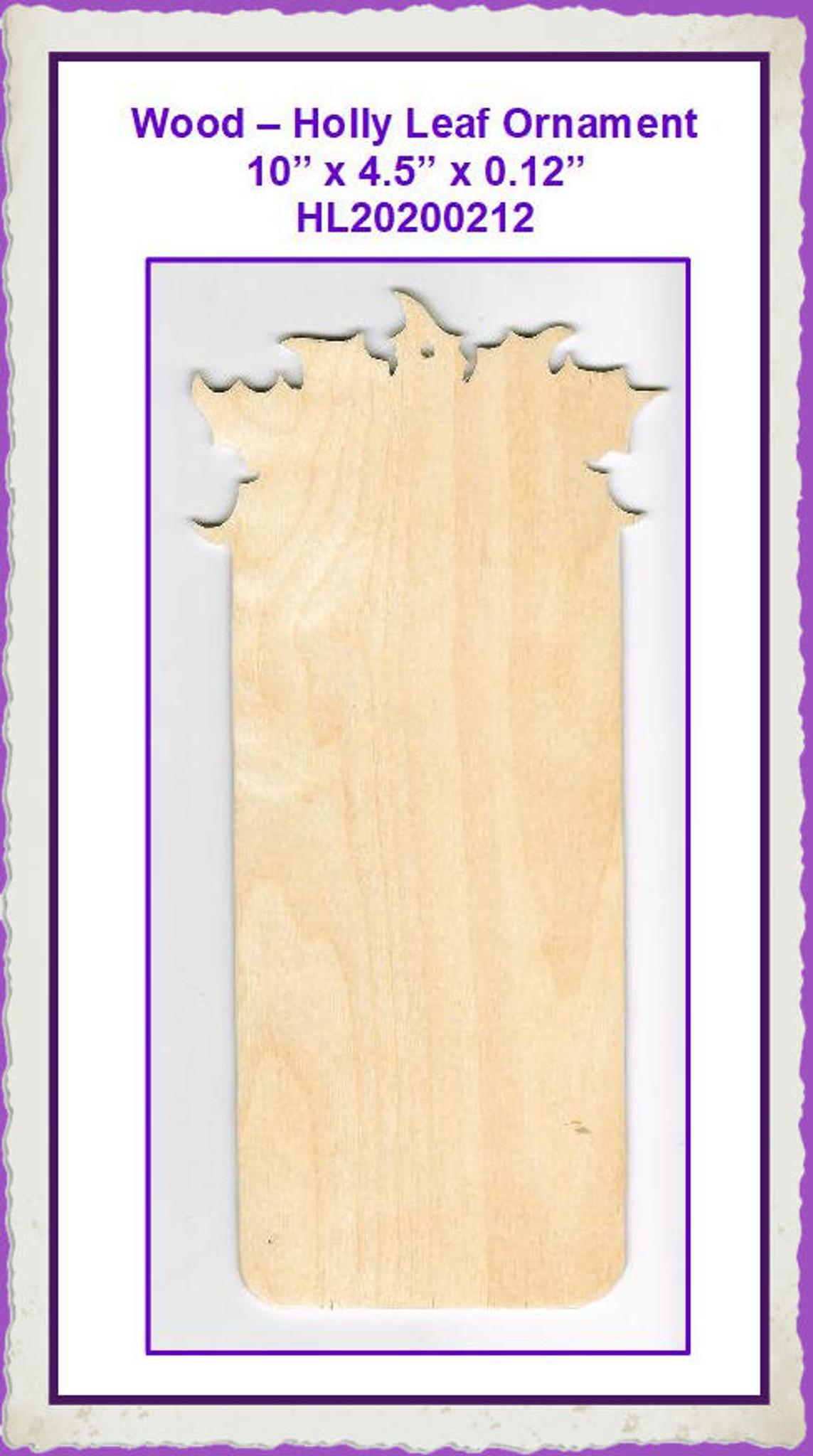 7 Holly Leaf Banner