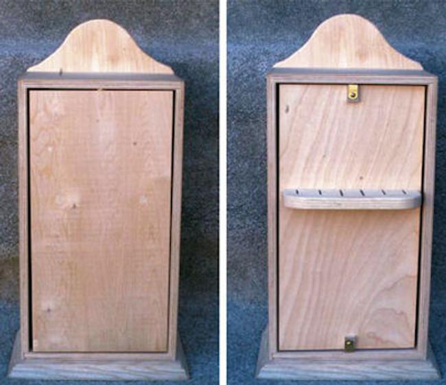 """Wood - Box, Knife 17"""" x 13""""  x 7"""""""