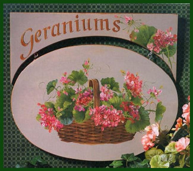 Wood - Gran's Geranium Board