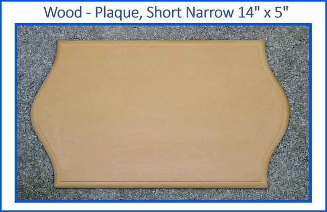 """Wood - Plaque, Short Narrow 14"""" x 5"""" (19234002)"""