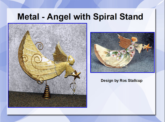Metal - Angel with Spiral Stand (740009)