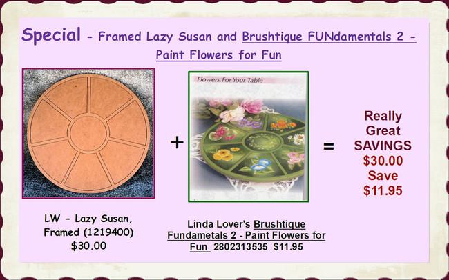 Special - Framed Lazy Susan and Brushtique FUNdamentals 2