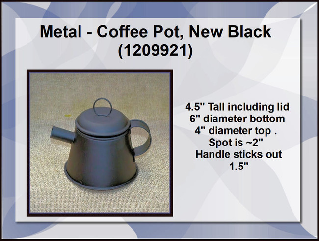 Metal - Coffee Pot, New Black (1209921)