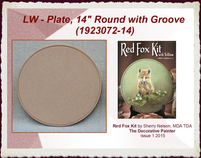 """LW - Plate, 14"""" Round with Groove (1923072-14)"""