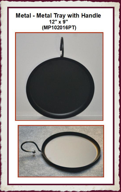 """Metal - Metal Tray with Handle 12"""" x 9"""" (MP102016PT)"""