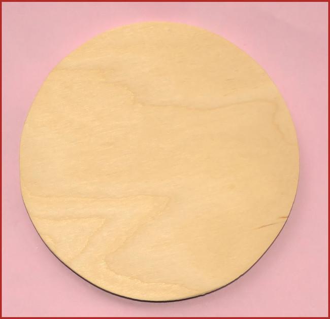 "Wood - Ornament , Round 4"" diameter (0119201612)"