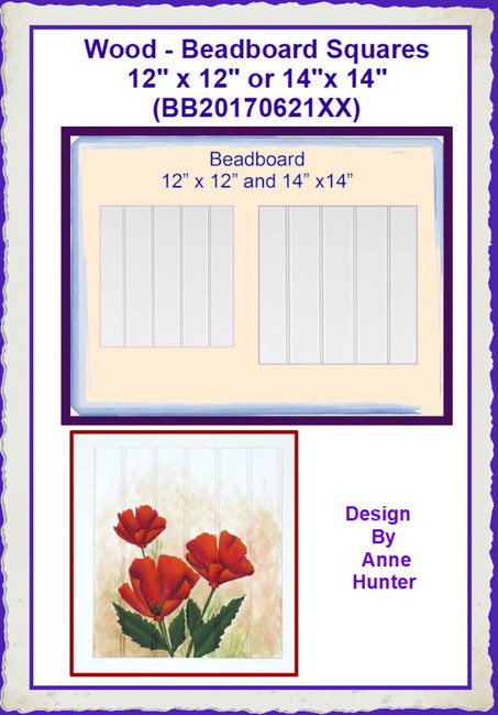 "Wood - Beadboard Squares 12"" x 12"" or 14""x 14"" (BB20170621XX)"