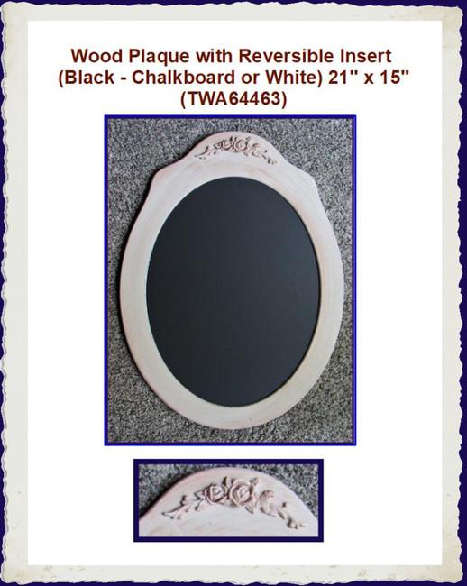 "Wood - Plaque with Insert  21"" x 15"" (TWA64463)"