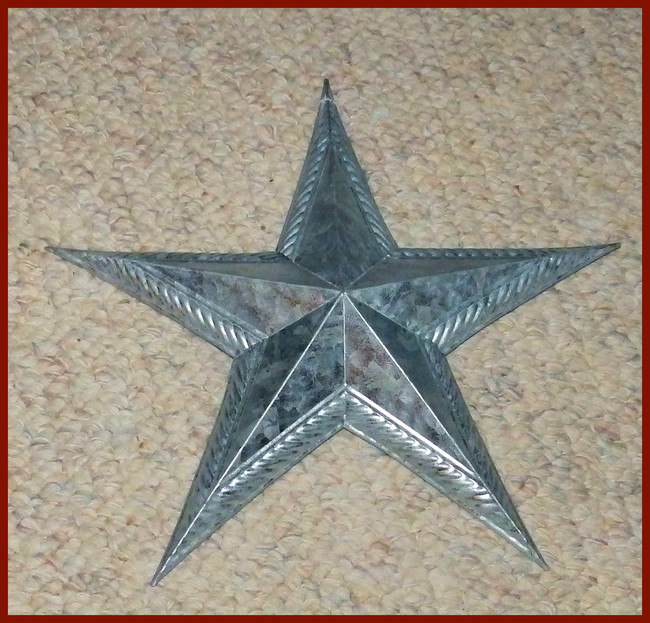 "Metal - Star. 12"" Galvanized (15T208)"