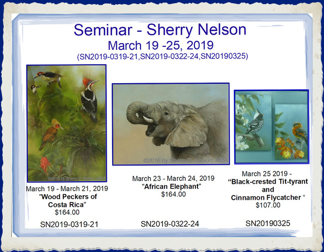 Seminar20190319 - Sherry Nelson March 19 -26, 2019 (SN2019#1-0319-21,SN2019#2-0323-24, SN2019#3-0325, SN2019#4-0326, SN2019#5 All 7 Days