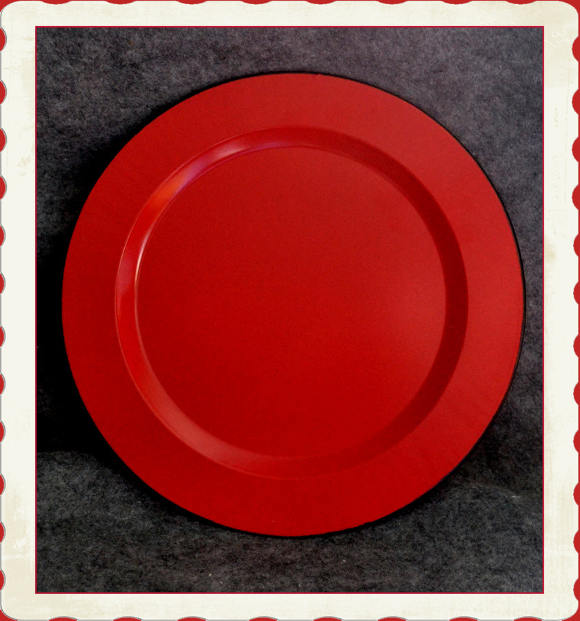 "Plate - 10"" Bright Red Plate (TMX89058) List Price $8.00"