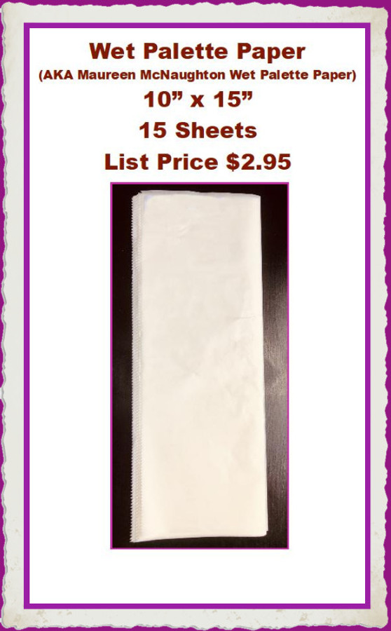"AC - Wet Palette Paper 15 pieces 15"" x 10"" (AC2020WPP) List Price $2.95"