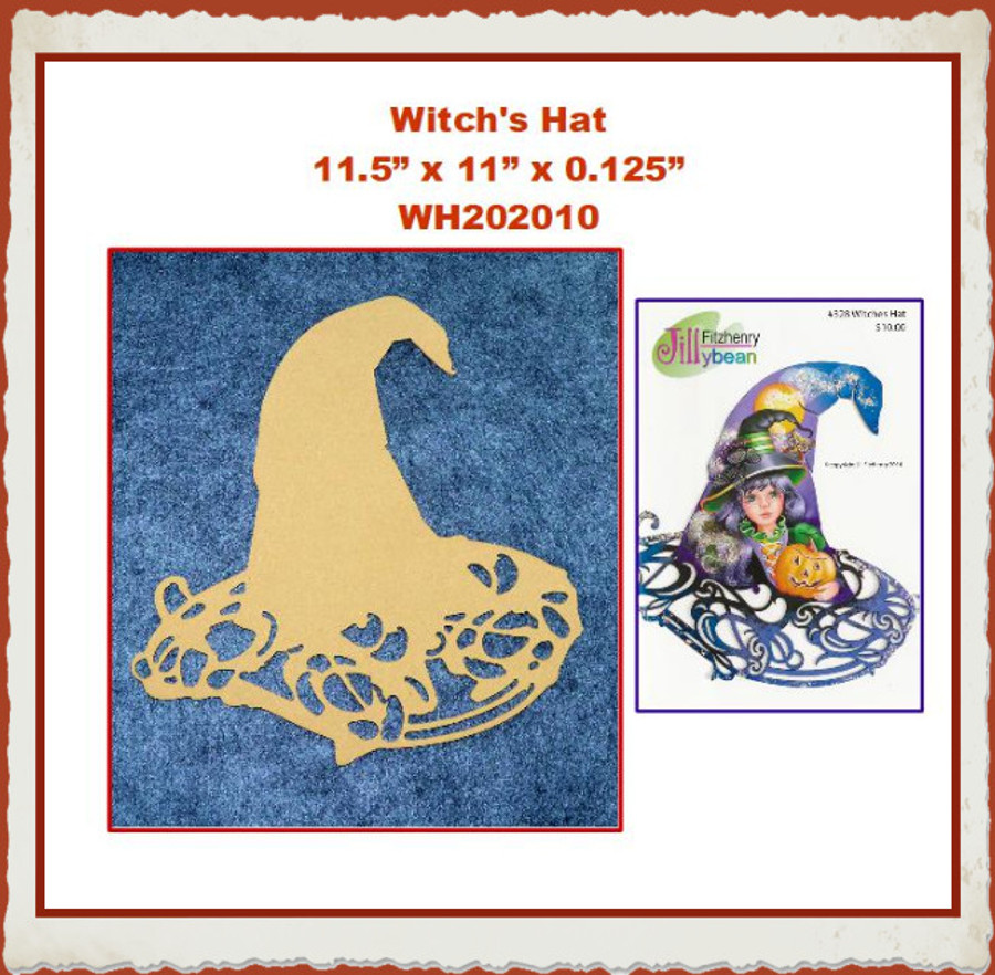 """Wood - Witch's Hat 11.5"""" x 11"""" x 0.125"""" (WH202010) List Price 12.00"""
