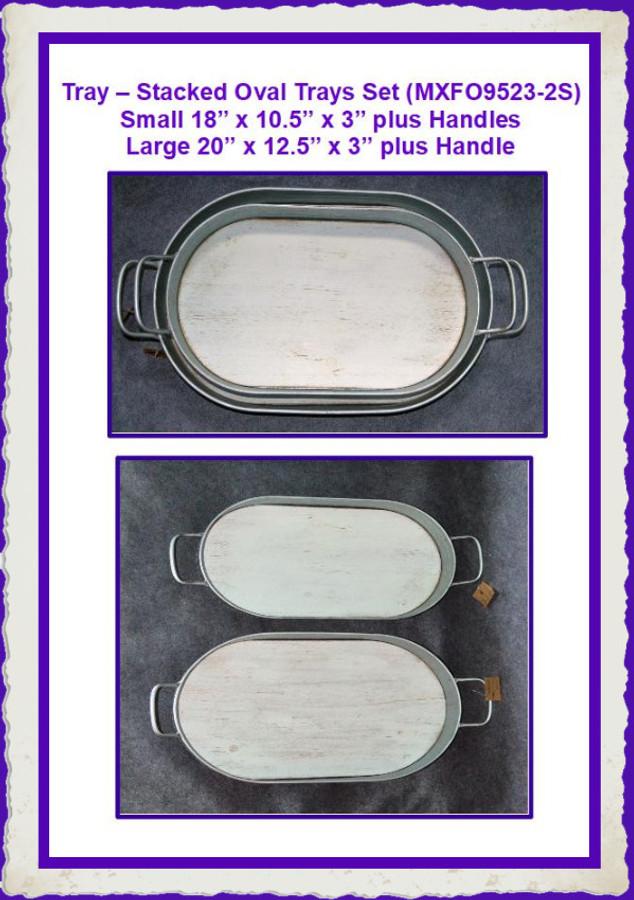 Trays -  Tray – Stacked Oval Trays Set (MXFO9523-2S) List Price $65.00