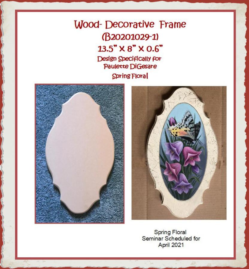 "Wood - Decorative Wood Piece 13.5"" x 8"" x 0.6"" (B202010-13) List Price $13.00"