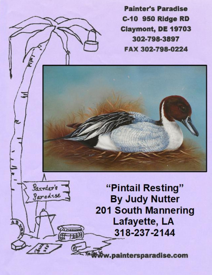 Pattern Packet - Pintail Resting by Judy Nutter  (PPJN20201027) List Price $8.00
