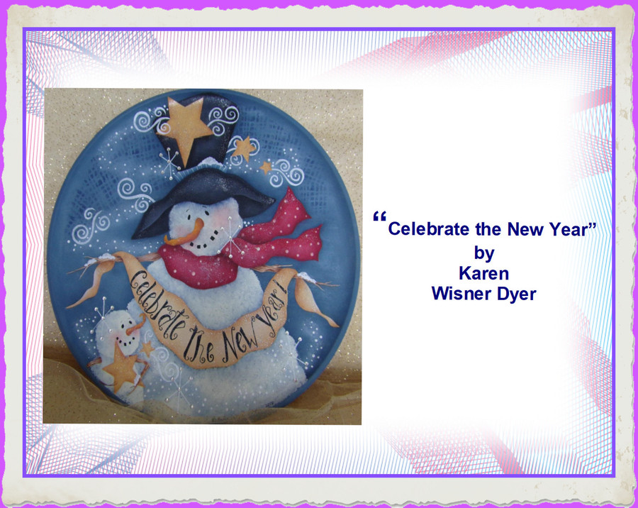 E-Packet - Celebrate the New Year by Karen Wisner  Dyar (KWD202001) list Price 12.00 - Very Limited Supply Only 2 Left