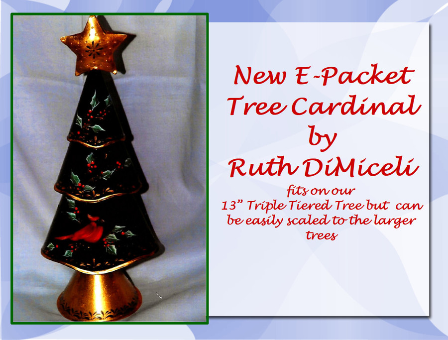 E-Packet Tree Cardinal by Ruth DiMiceli (EP-184001) List Price $8.00