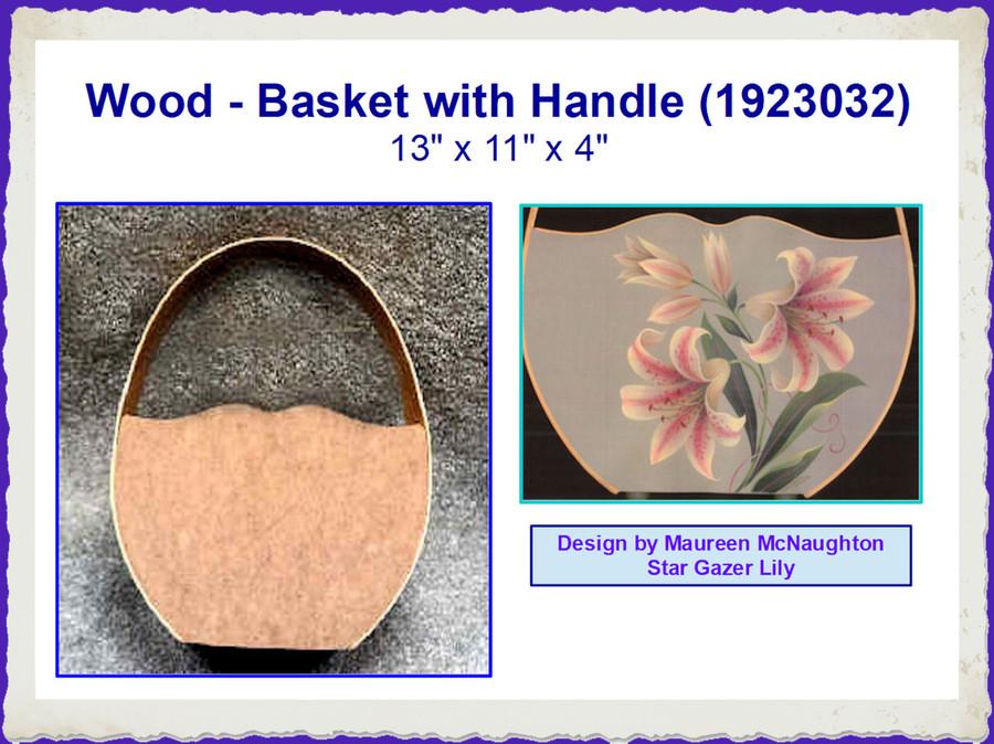 Wood - Basket with Handle (1923032)