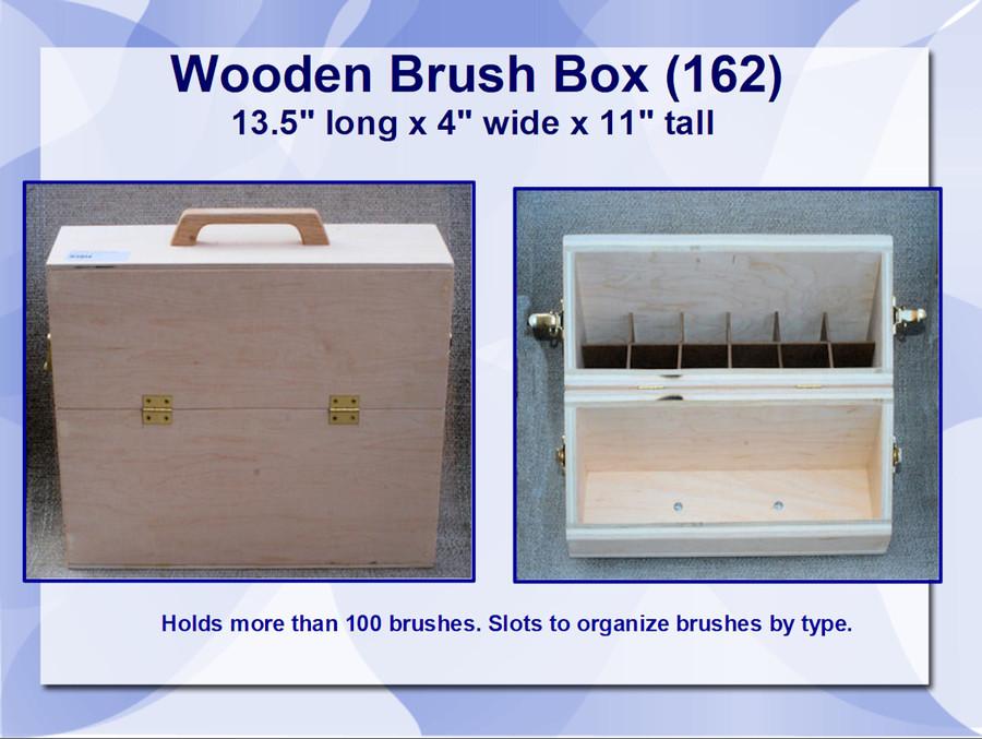 "Wood - Box,  Brush 13.5' x 11' x 4"" (162)"