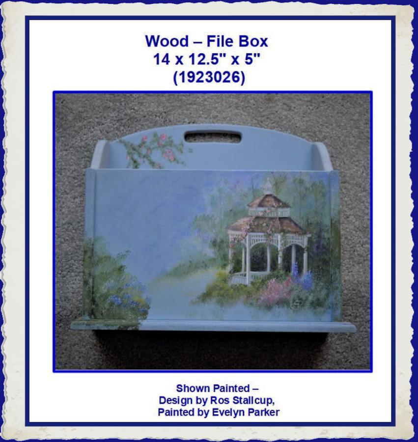"Wood - Box, File 14 x 12.5""  x 5"" (1923026)"