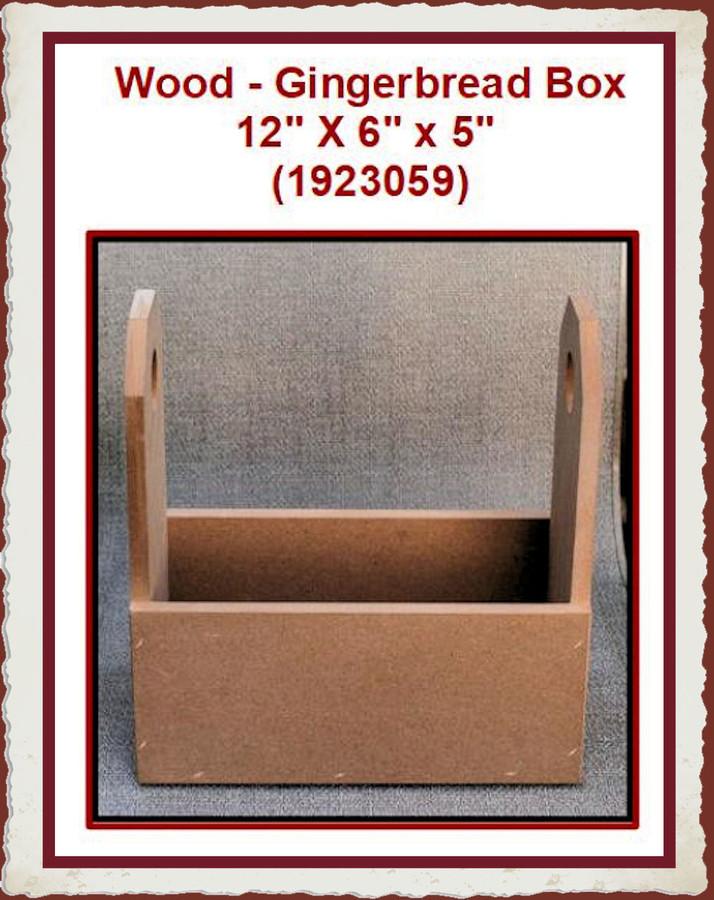 "Wood - Box, Gingerbread 12""  X 6"" x 5"" (1923059)"