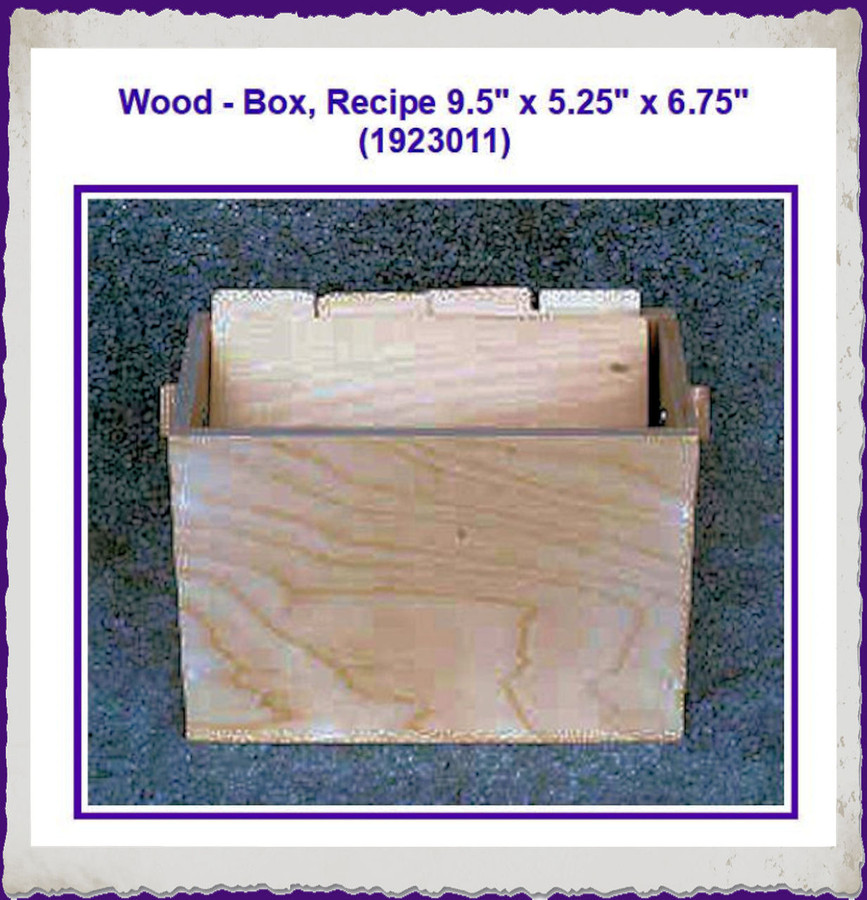 "Wood - Box, Recipe 9.5"" x 5.25"" x 6.75"" (1923011) List Price $ 16.50"