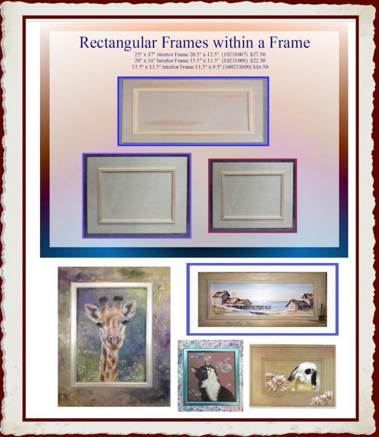 Wood - Rectangular Wood Frames with Interior Frame (19231007F, 19231008F, 19231009F,1923072915) List Price $29.00