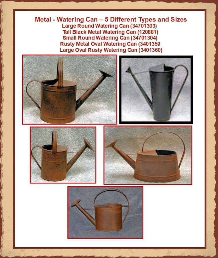 Metal - Watering Can - 5 Different types and Sizes to Choose from (34701303,  120881, 34701304, 13401359, 3401360)