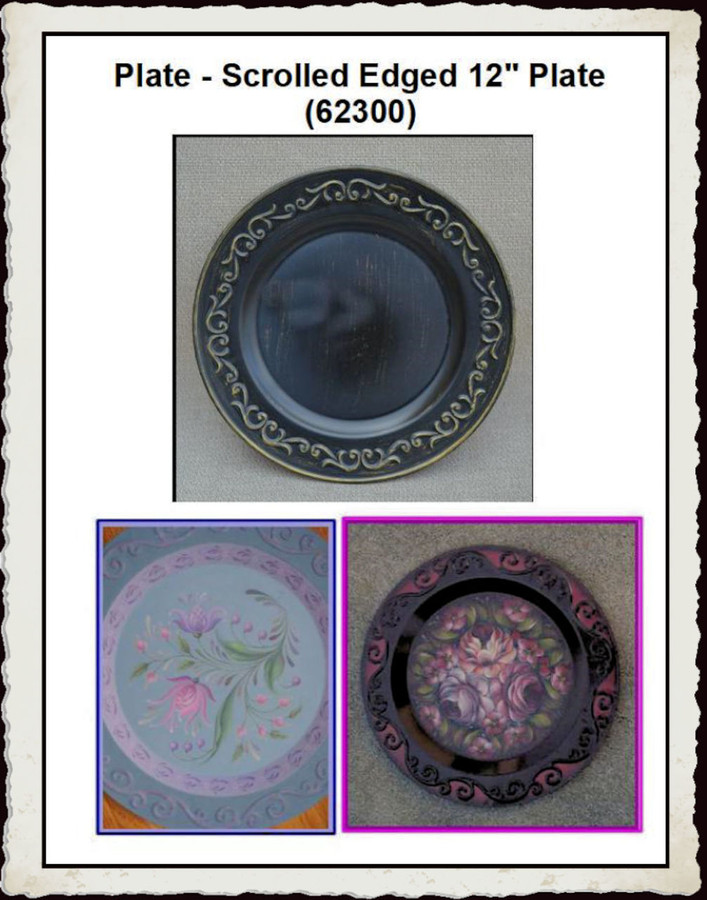 """Plate - Scrolled Edged 12"""" Plate (62300) List Price $11.25"""