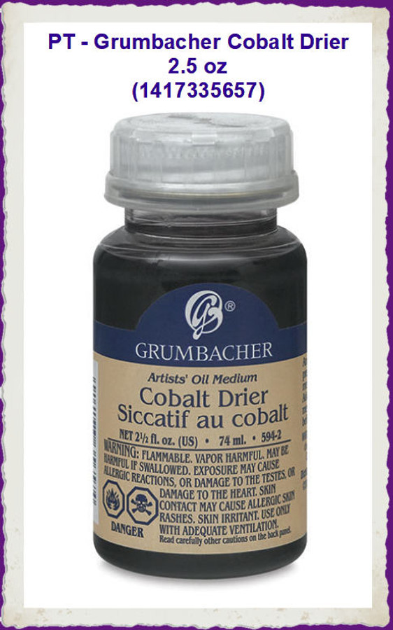PT - Grumbachers Cobalt Drier 2.5 oz (1417335657) List Price $18.50