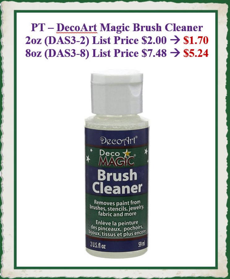 PT - Magic Brush Cleaner, DecoArt 2oz  (DAS3-X) List Price $2.00